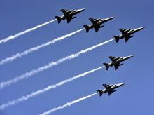 Indian Air Force's planes fly past over the Rajpath during 70th Republic Day Parade (PHOTO-DALIP KUMAR)