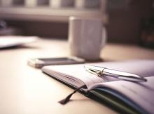 pen, book, stationery