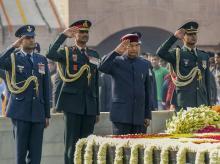 President Ram Nath Kovind pays homage to Mahatma Gandhi on his 71st death anniversary