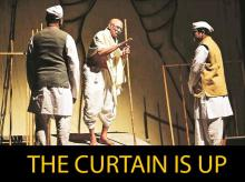 A scene from Bapu, one of the four plays on Gandhi that will be staged at the theatre festival