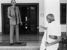 Jinnah and Gandhi, 1944