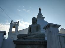 A Buddhist temple in Galle