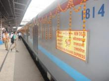 Rajdhani Express turns 50, passengers pampered with sweets and cards