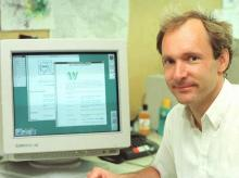 Former physicist, Tim Berners-Lee invented the World Wide Web as an essential tool for high energy physics at CERN from 1989 to 1994, Photo: CERN