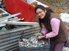 A recycling business owner