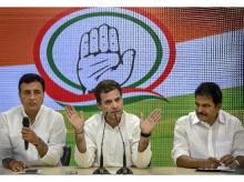 Congress President Rahul Gandhi addresses a press conference, at AICC HQ, in New Delhi | Photo: PTI