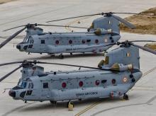 CH-47F(I) Chinook helicopters before its induction into the Indian Air Force