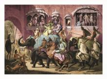 Une Rue de lahore by The Russian prince Alexis Soltykoff