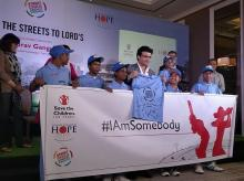 Former Indian cricket team captain Sourav Ganguly extends his support for the teams playing at the Street Child Cricket World Cup