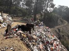 waste, garbage, dumsite, hills