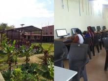 PNB is running is a farmer training centre in Nagepur which also has a computer course for girls