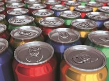 Consumption in aluminium cans is 3-4% of the total