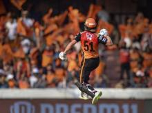 Sunrisers Hyderabad will miss the services of David Warner in crucial IPL game. Photo: PTI