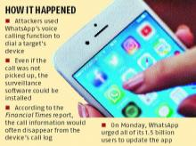 Spyware installed on phones through WhatsApp calls; bug fixed