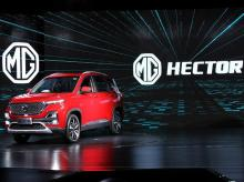 MG Motor India unveiling of MG Hector, India's first internet car