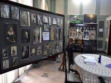 The studio parlour with copies of its prized photos