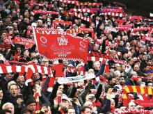 The Liverpool supporters showed that matchgoing supporters matter. Supporters, at the stadium, singing their hearts out as they have done for years, for decades, matter. Photo: Reuters