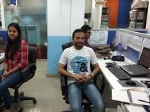 Colleagues Shelly Mahajan and Naveen Singh Moni at the ADR office in Delhi