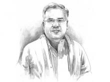 Chhattisgarh Chief Minister Bhupesh Baghel. Illustration by Binay Sinha