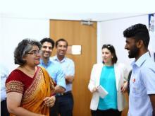 LabourNet CEO Gayathri Vasudevan (left)