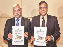 Left: Chief Election Commissioner Sunil Arora has denied rift, saying commission members are not clones of each other, Right: Election Commissioner Ashok Lavasa has opted out of meetings over clean chit given to the prime minister's speeches
