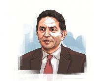 Illustration of Gautam Thapar by Ajay Mohanty