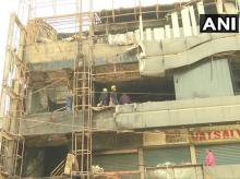 visuals from the site where a fire broke out at a coaching centre in Sarthana area of Surat