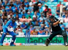 File Photo: Ross Taylor playing a shot during the warm-up match against India