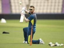 David Warner during practice session. File Photo: AP |  PTI