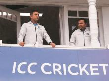 MS Dhoni outside the dressing room at Trent Bridge.File Photo: Reuters
