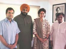 Rahul Gandhi, Priyanka Gandhi, Navjot Singh Sidhu, Ahmed Patel