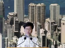 Hong Kong: Hong Kong's Chief Executive Carrie Lam arrives holds a press conference in Hong Kong on Saturday, June 15, 2019. Lam said she will suspend a proposed extradition bill indefinitely in response to widespread public unhappiness over the measu