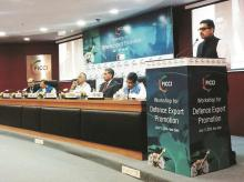 Sanjay Jaju, Joint Secretary (DIP), Department of Defence Production, MoD addresses the workshop for Defence Export Promotion organised by Ficci. (Photo: Twitter/Sanjay Jaju)