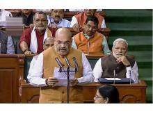 New Delhi: Union Home Minister and BJP President Amit Shah takes oath as a member of the 17th Lok Sabha, at Parliament House in New Delhi, Monday, June 17, 2019. (LSTV Grab/PTI)