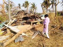 Homes devastated by Cyclone Fani in Raghurajpur.