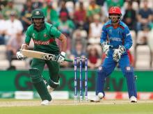 File photo: Shakib Al Hasan whil taking a single during match against Afghanistan