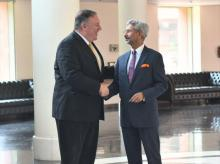 External Affairs Minister S Jaishankar meets his American counterpart Mike Pompeo