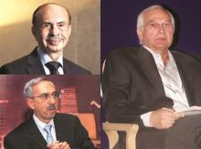 (Left to right) Adi Godrej, chairman, Godrej group, and Nadir Godrej, chairman, Godrej Agrovet, are seeking to resolve differences with cousin Jamshyd Godrej, who controls the unlisted Godrej & Boyce