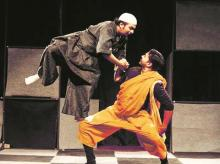 A scene from Girish Karnad's play, Tughlaq