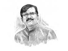 File photo of Shiv Sena leader Sanjay Raut. Illustration by Binay Sinha