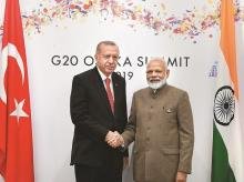 Modi,President of Turkey Recep Tayyip Erdogan, G20 summit