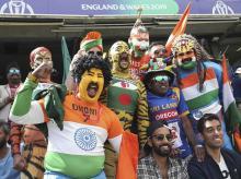 Fans of India, Bangladesh, Sri Lanka and Pakistan cheer