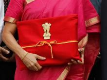 India's first full-time woman Finance Minister Nirmala Sitharaman carried the Union Budget documents in a red bag, reminiscence of the traditional 'bahi-khata'.