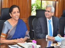 FM Nirmala Sitaraman and RBI Governor Shaktikanta Das at a meeting in New Delhi | Photo: Sanjay.K.Sharma