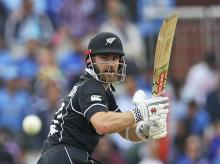 New Zealand's captain Kane Williamson bats during the Cricket World Cup semifinal match