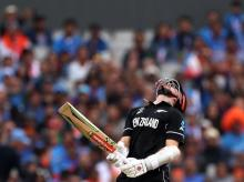 New Zealand's Kane Williamson reacts