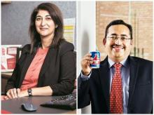 Sarvita Sethi will lead M&A and new ventures for Coke's India and Southwest Asia region (left); Harsh Bhutani is the new CFO