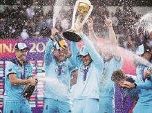 England Cricket team after lifting the ICC 2019 World Cup