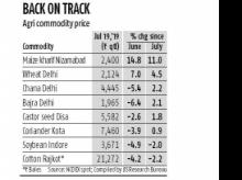 Agri commodities recover from June dip on reports of rain deficiency