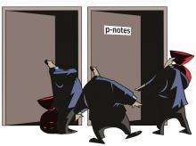 P-Notes. Illustration: binay sinha